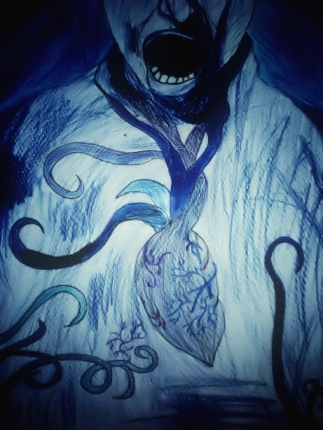 Title: La Fin du Silence Colored Pencils 2008 Din A3