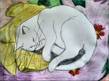 Title: Serenita DinA4 2010 Made for my mother who was in the hospital during that time Aquarelle Pencil colors
