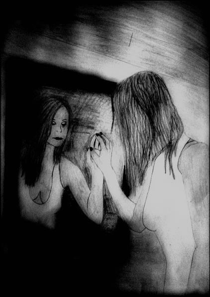 title: the mirrors truth from 2010 DinA3 Pencil