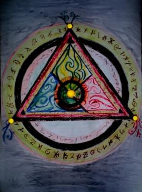 Title: Tricirclette DinA3 Colored Pencils Unknown date