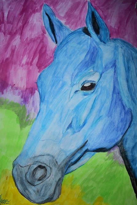 Blue Horsey by Adrien Asselborn